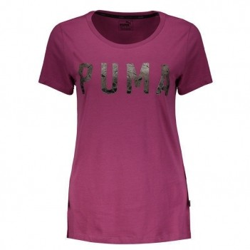 Camiseta Puma Athletic Feminina Rosa