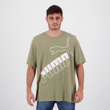 Camiseta Puma Big Logo Verde