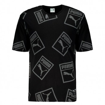 Camiseta Puma Downtown Graphic Preta