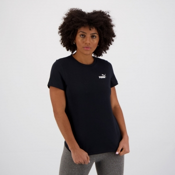 Camiseta Puma ESS Small Logo Feminina Preta