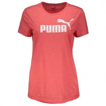 Camiseta Puma Essential No.1 Heather Feminina Rosa