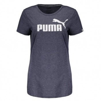 Camiseta Puma Essential Nº1 Heather Feminina Cinza
