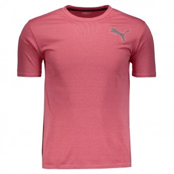 Camiseta Puma Essential Puretech Heather Rosa
