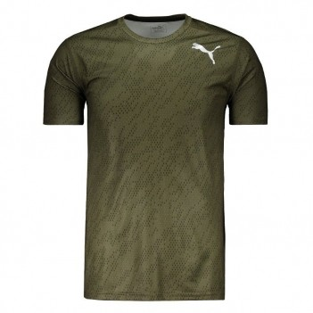Camiseta Puma Essential Tech Graphic Verde