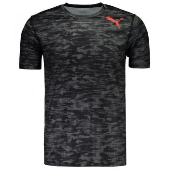 Camiseta Puma Essential Tech Graphic Preta