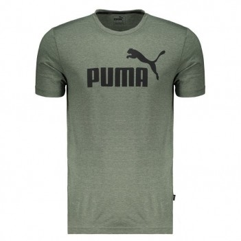 Camiseta Puma Essentials Heather Verde