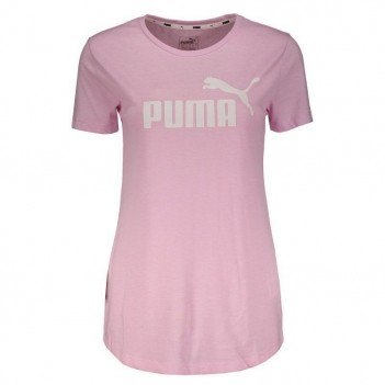 Camiseta Puma Essentials Heather Feminina Rosa