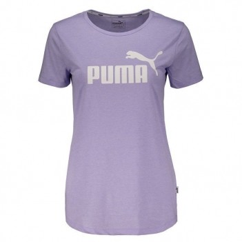 Camiseta Puma Essentials Heather Feminina Lilás