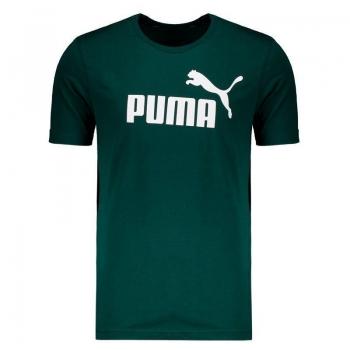 Camiseta Puma Essentials Logo Verde