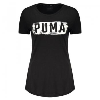 Camiseta Puma Fusion Graphic Feminina Preta