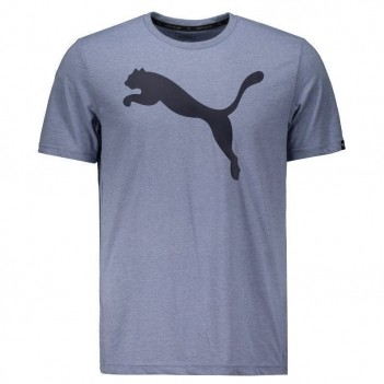 Camiseta Puma Heather Big Cat Azul