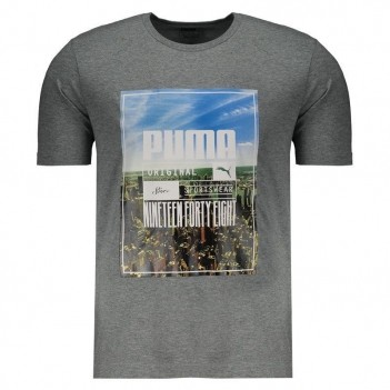 Camiseta Puma Photoprint Skyline Cinza