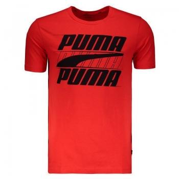 Camiseta Puma Rebel Basic Vermelha