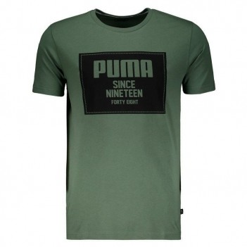 Camiseta Puma Rebel Block Basic Verde