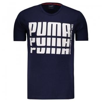 Camiseta Puma Rebel Bold Basic Marinho