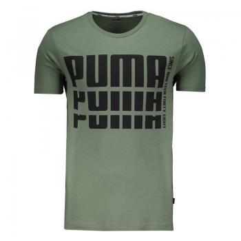 Camiseta Puma Rebel Bold Basic Verde