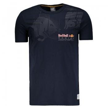 Camiseta Puma Red Bull Racing Infiniti Graphic Marinho