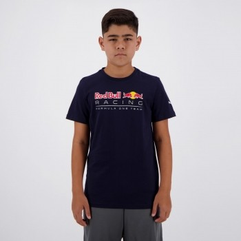 Camiseta Puma Red Bull Racing Juvenil Marinho