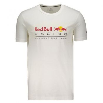 Camiseta Puma Red Bull Racing Logo Branca