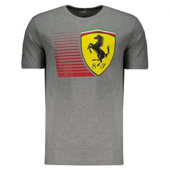 Camiseta Puma Scuderia Ferrari Big Shield Cinza