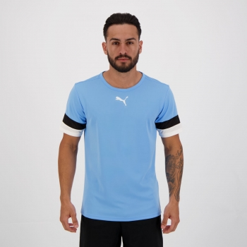 Camiseta Puma Teamrise Azul e Preta