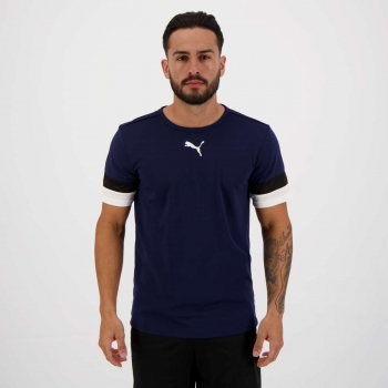 Camiseta Puma Teamrise Marinho
