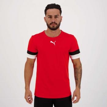 Camiseta Puma Teamrise Vermelha