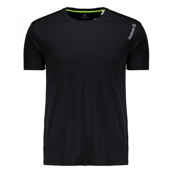 Camiseta Reebok Run Bp Preta