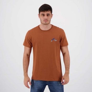 Camiseta Rusty Silk Aerial Marrom