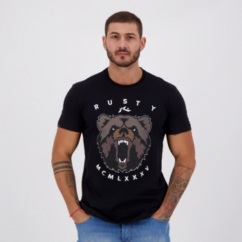 Camiseta Rusty Silk Bears Preta