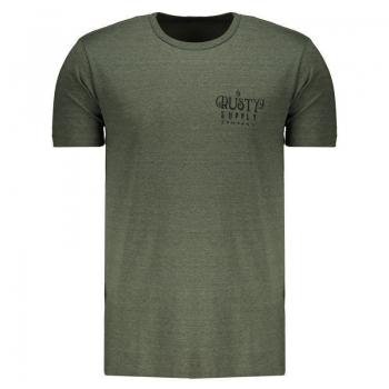 Camiseta Rusty Silk Trippe Verde Mescla