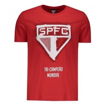 Camiseta São Paulo Logo Print Vermelha