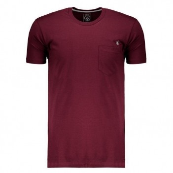 Camiseta Volcom Silk Fit Solid Long Vinho