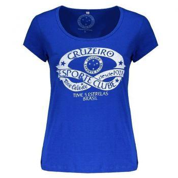 Camiseta Cruzeiro Time Celeste Feminina