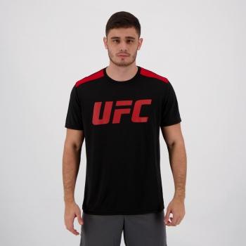 Camiseta UFC Basic Training Preta e Vermelha