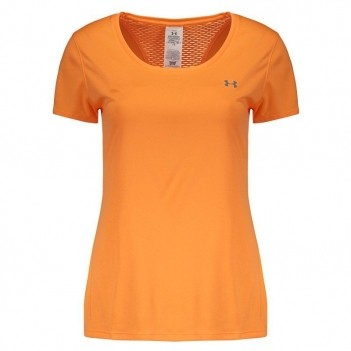 Camiseta Under Armour Flyweight Feminina Laranja