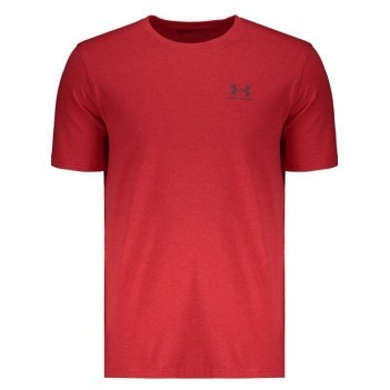 Camiseta Under Armour Left Chest Vermelha