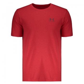 Camiseta Under Armour Left Chest Vermelha