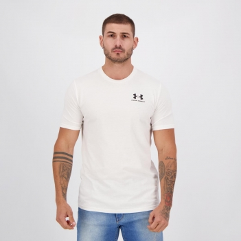 Camiseta Under Armour Sportstyle Left Chest Branca