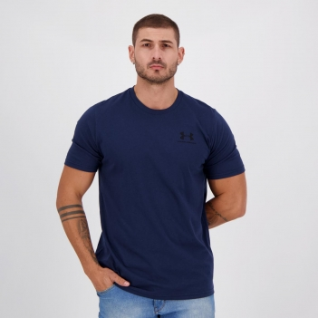 Camiseta Under Armour Sportstyle Left Chest Marinho