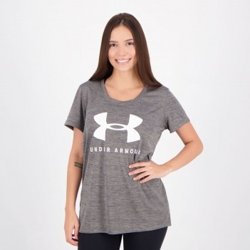 Camiseta Under Armour Tech Sportstyle Graphic Feminina Cinza