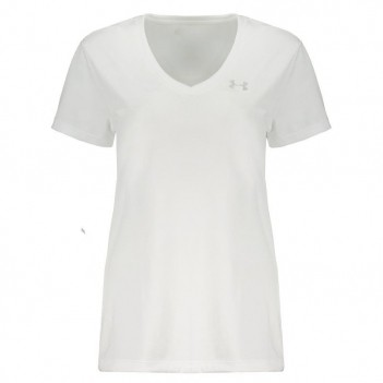 Camiseta Under Armour Tech V-Brasil Feminina Branc