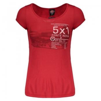 Camiseta Vitória Fonte Nova Feminina Vermelha