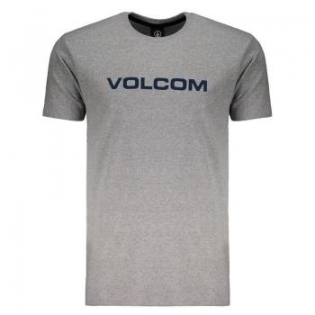 Camiseta Volcom Crisp Euro Cinza Mescla