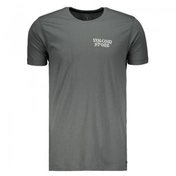 Camiseta Volcom Fit Dobby Long Cinza