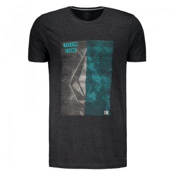 Camiseta Volcom Fit Line Tone Preto Mescla
