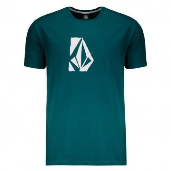 Camiseta Volcom New Skool Verde