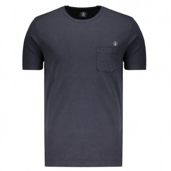 Camiseta Volcom Pocket Circle Stoned Azul Marinho
