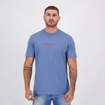 Camiseta Volcom Silk Clock Worker Azul