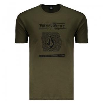 Camiseta Volcom Silk ID Verde Militar